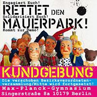 Aufruf zur Demo vor dem Max-Planck-Gymnasium
