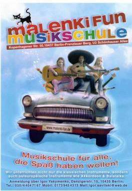 Plakat Musikschule Malenki Fun