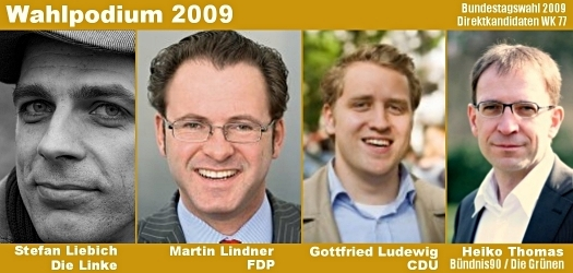 Wahlpodium2009, Grafik