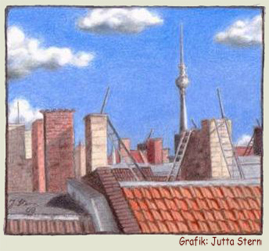 Dachansicht, Grafik: Jutta Stern