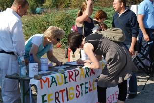 Mauerpark-Protestfest 27.09.09, Info-Tisch
