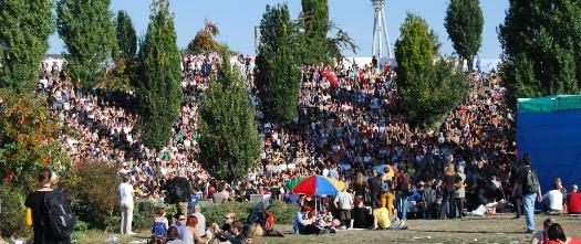 Protestfest 27.09.09, Besucher
