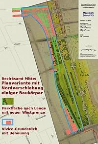BA Mitte, Mauerpark-Plan