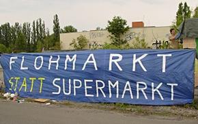 """Transparent """"Flohmarkt statt Supermarkt"""""""