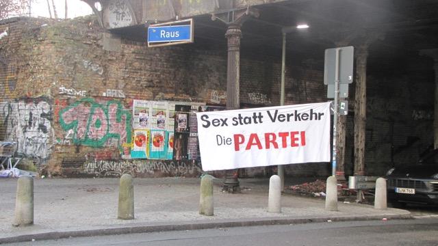 Gleimtunnel: Sex statt Verkehr