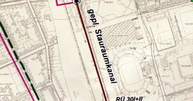 Stauraumkanal – Baumfällungen im Mauerpark
