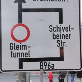 Gleimtunnel – Vollsperrung wegen Fehlverhalten von Autofahrern !